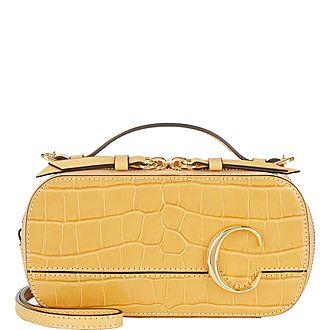 Croc-Embossed Vanity Camera Bag