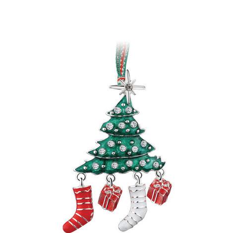Christmas Tree Enamel Decoration, ${color}