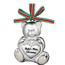 Teddy Bear Baby's First Christmas Hanging Decoration
