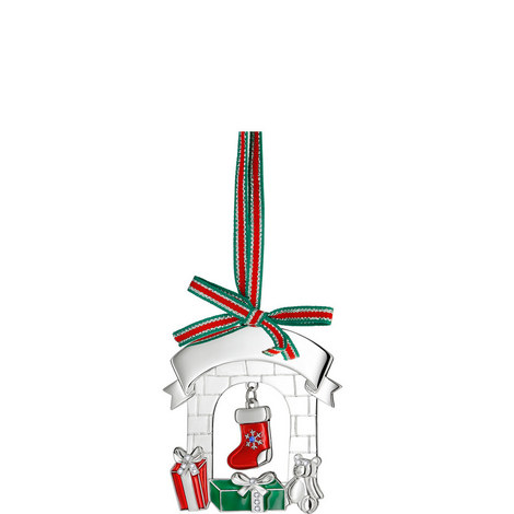 Christmas Fireplace Hanging Decoration, ${color}