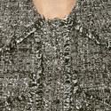 Tweedy Frayed Trim Jacket, ${color}