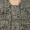 Tweedy Frayed Trim Jacket, ${color}