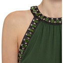 Sleeveless Jewel Embellished Top, ${color}