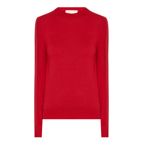 Knitted Contrast Hem Top, ${color}