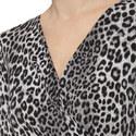 Wrap Front Animal Print Dress, ${color}
