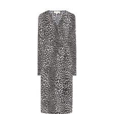 Wrap Front Animal Print Dress