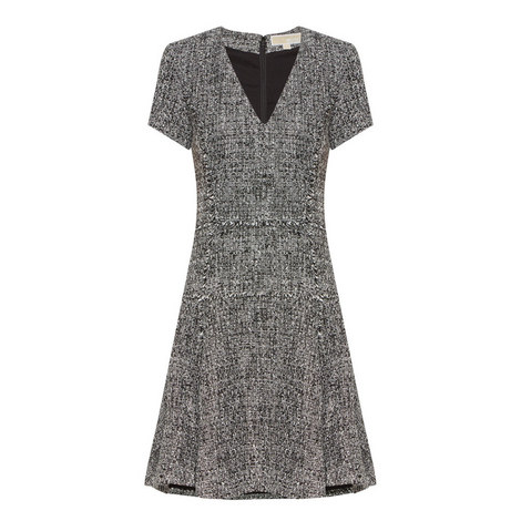 Fit And Flare Tweed Dress, ${color}