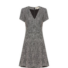 Fit And Flare Tweed Dress