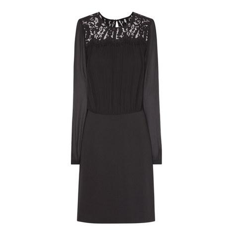 Long Sleeve Lace Dress, ${color}