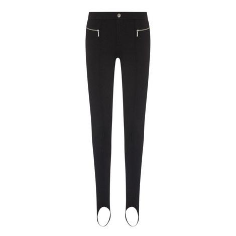 Zip Detail Slim-Fit Trousers, ${color}