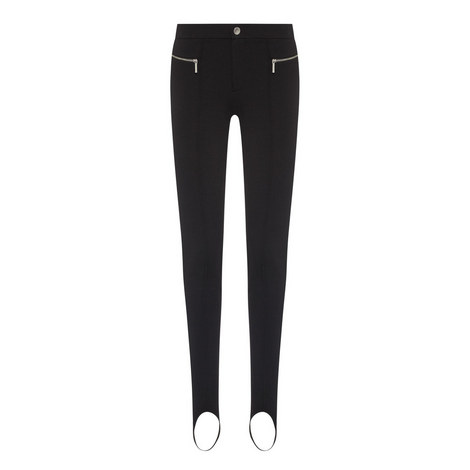 Zip Detail Slim-Fit Trousers, ${color}