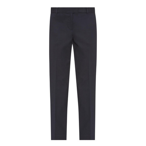 Cropped Straight Fit Trousers, ${color}