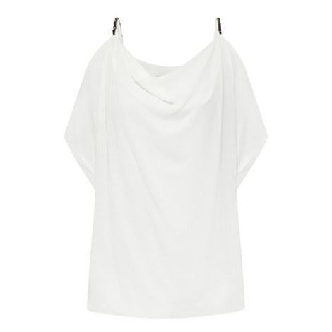 Embellished Cold-Shoulder Top, ${color}