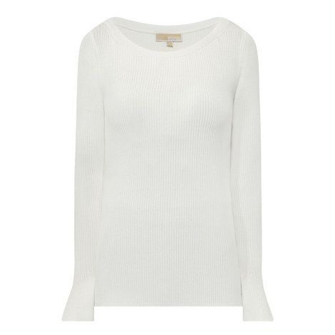 Ribbed Bell Sleeve Top, ${color}
