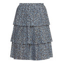 Tiered Print Skirt, ${color}