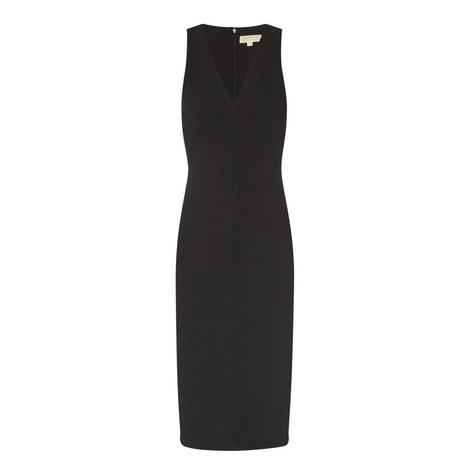V-Neck Midi Dress, ${color}