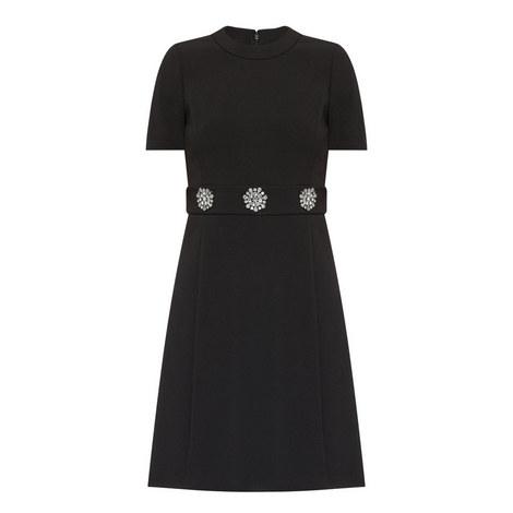 Embellished Short Sleeve Dress, ${color}