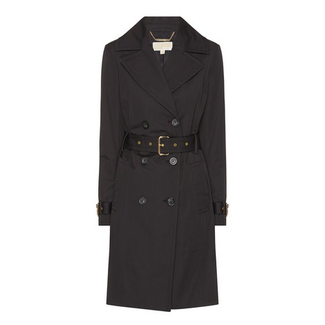 Fit-and-Flare Trench Coat, ${color}