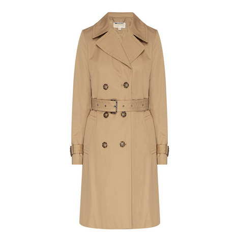 Sateen Trench Coat, ${color}
