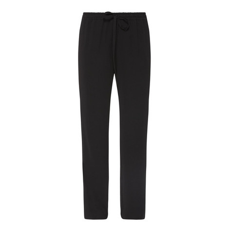 High-Waisted Drawstring Trousers, ${color}