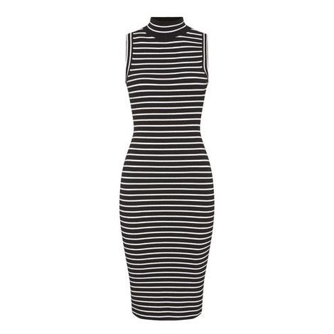 Polo Stripe Ribbed Dress, ${color}