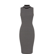 Polo Stripe Ribbed Dress