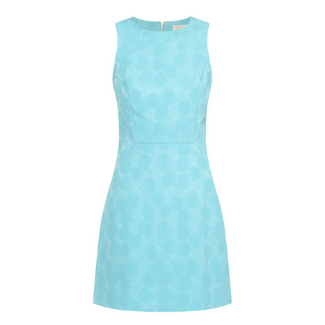 Jacquard Sleeveless Dress, ${color}