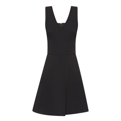 Sleeveless Fit-And-Flare Dress, ${color}