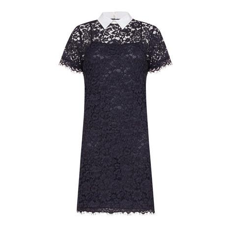 Collar Detail Lace Dress, ${color}