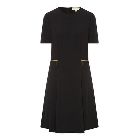 Zip Side Crepe Dress, ${color}