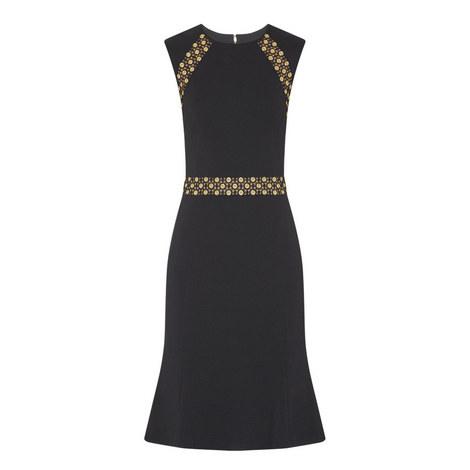 D3 Grommet Lace Detail Dress, ${color}