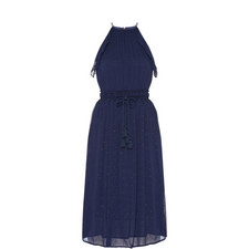 Halter-Neck Tassel Dress