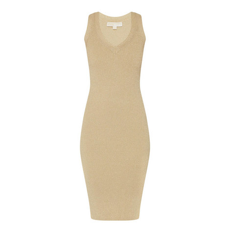 D2 Metallic Ribbed Dress, ${color}