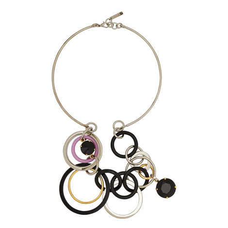 Multi Circle Necklace, ${color}