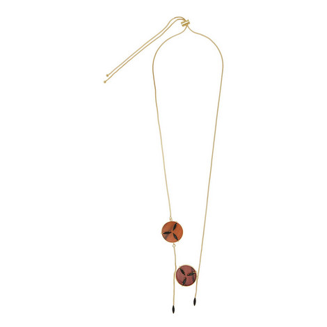 Double Disc Toggle Necklace, ${color}
