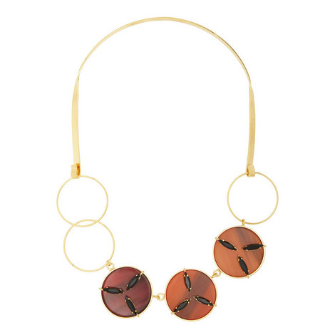 Crystal Disc Collar Necklace, ${color}