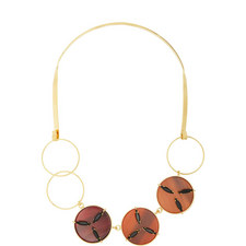 Crystal Disc Collar Necklace