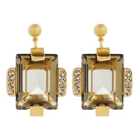 Quartz Stone Stud Earrings, ${color}