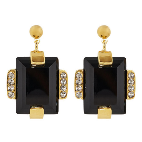 Embellished Stone Stud Earrings, ${color}