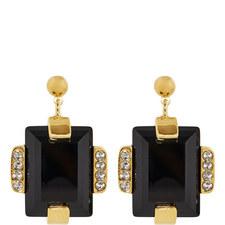 Embellished Stone Stud Earrings