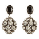Crystal Bauble Clip-On Earrings, ${color}