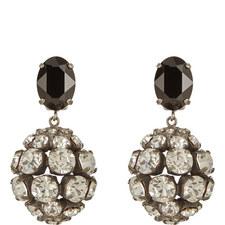 Crystal Bauble Clip-On Earrings