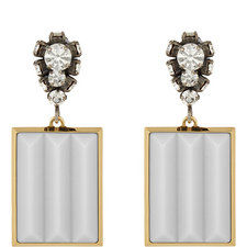 Runway Crystal Clip-On Earrings