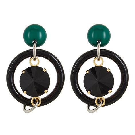 Circle Drop Earrings, ${color}