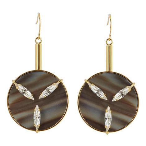 Crystal Disc Earrings, ${color}