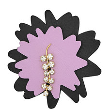 Leather Flower Brooch