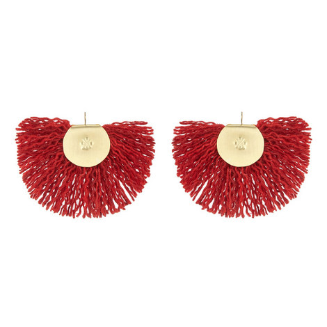 Hand Fan Earrings, ${color}