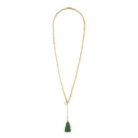 Bar Tassel Necklace, ${color}