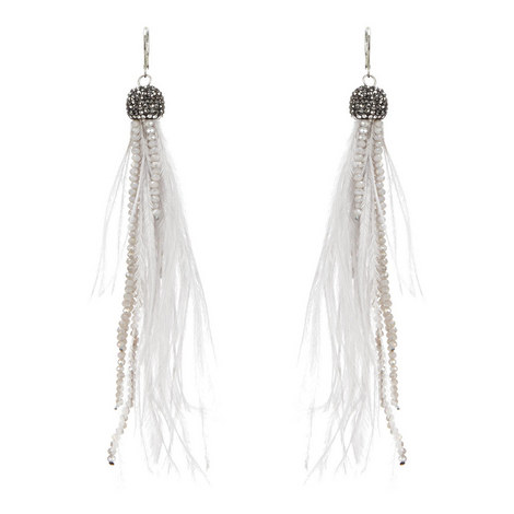 Long Feather Earrings , ${color}