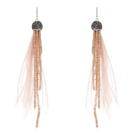 Long Feather Earrings, ${color}
